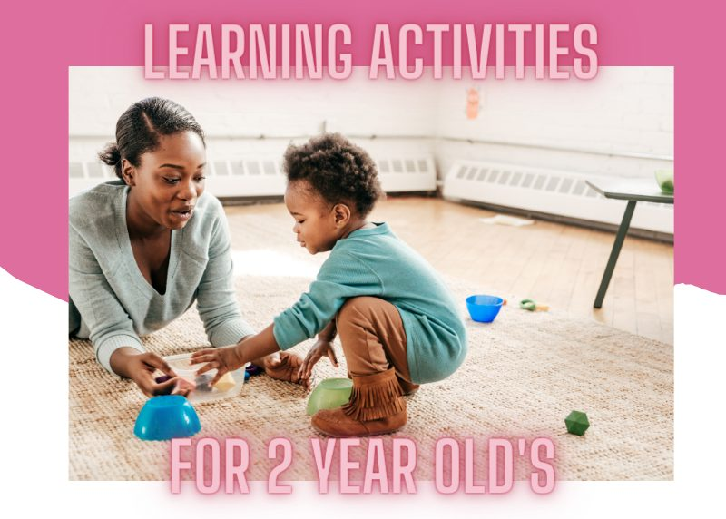 toddler activities for 2 year old's